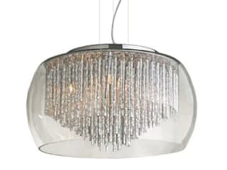 Designer pendant light REGO crystal ceiling light with crystals and glass lamp shade Sala da pranzo moderna di Luxury Chandelier Moderno