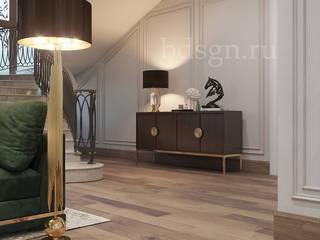 Livings de estilo  por Дизайн студия 'Дизайнер интерьера № 1'