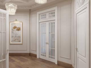 Прихожая и коридоры в коттедже : Коридор и прихожая в . Автор – Дизайн студия 'Дизайнер интерьера № 1',