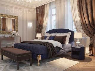 Спальня в дереве и природных цветах : Спальни в . Автор – Дизайн студия 'Дизайнер интерьера № 1',