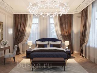Dormitorios de estilo  por Дизайн студия 'Дизайнер интерьера № 1'