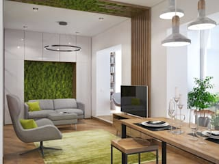 «Студия 3.14» Industrial style living room
