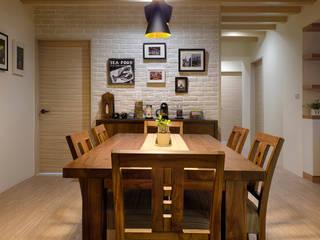美感交織,鄉村風情:  餐廳 by 森活館室內裝修有限公司,