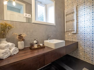 Casa de banho - Projeto SHI Studio Interior Design, Matosinhos Casas de banho modernas por ShiStudio Interior Design Moderno