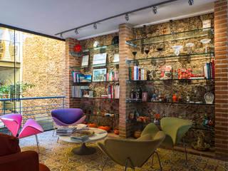 JOSE DIAZ FOTOGRAFIA Modern Living Room Bricks Brown