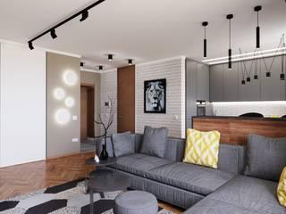 Квартира для холостяка: Гостиная в . Автор – GruzdArt, Лофт
