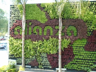 Muros Verdes Bodegas Alianza Espacios comerciales de estilo rústico de Generación Verde Rústico