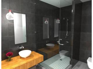 Cancel de baño Espacios comerciales de estilo clásico de Tecnha Clásico