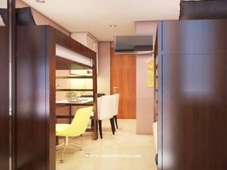 Show Unit Studio Apartment: Kamar tidur kecil oleh ADEA Studio,