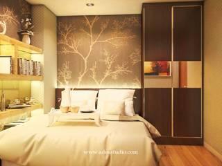 Show Unit 2BR Apartment: Kamar Tidur oleh ADEA Studio,