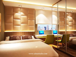 Sahid Sudirman Residence: Kamar Tidur oleh ADEA Studio,