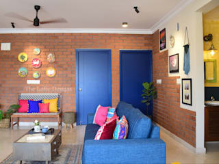 House with the Blue Door:  Living room by The Lofte Designs,