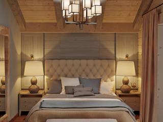 Оформление деревянного дома в Подмосковье : Спальни в . Автор – SJull Design,