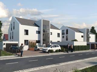 Mühlanger 22|24: Exklusive Wohnungen in Dinkelscherben bei Augsburg ECOLINE Holzsystembau GmbH & Co. KG Mehrfamilienhaus