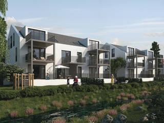 Mühlanger 22|24: Exklusive Wohnungen in Dinkelscherben bei Augsburg ECOLINE Holzsystembau GmbH & Co. KG Moderne Häuser