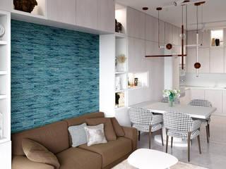 Апартаменты в Москве: Гостиная в . Автор – SJull Design,