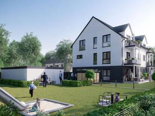 Jankstraße 3: Elegantes Wohnensemble in München ECOLINE Holzsystembau GmbH & Co. KG Mehrfamilienhaus