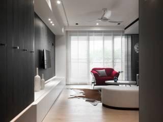 肯星室內設計 Modern Corridor, Hallway and Staircase