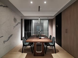 Minimalist dining room by 肯星室內設計 Minimalist
