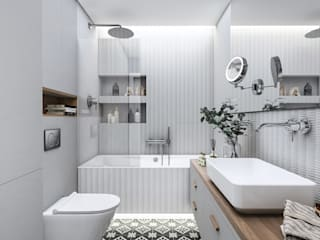Bathroom by MIKOŁAJSKAstudio ,