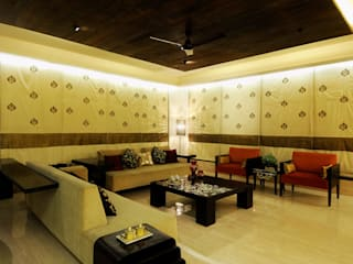 Living Room in Mumbai Modern living room by JAY ENTERPRISES - Residental, Commercial & Hospitality Interior Designers Modern