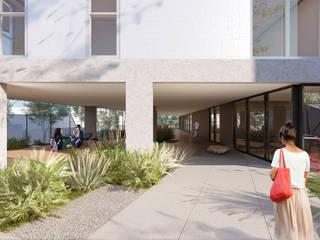 Ed. Residencial Weefor Corredores, halls e escadas modernos por Brune Arquitetura Moderno