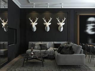 Гостиная Гостиные в эклектичном стиле от Dots Interior Эклектичный