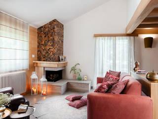manuarino architettura design comunicazione Living room Wood Red