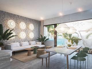 V ALIVE Salones modernos de NATALIA MENACHE ARQUITECTURA Moderno