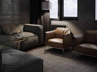 Black interior for IT: Гостиная в . Автор – Order Interior,