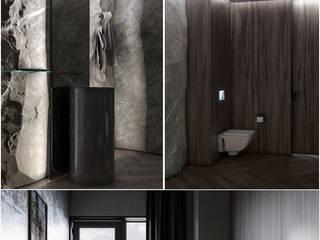 Black interior for IT: Ванные комнаты в . Автор – Order Interior,