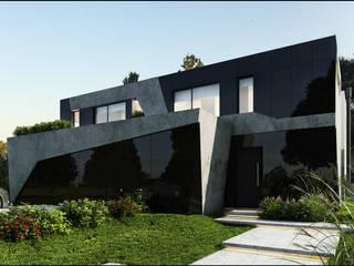 Casa Moderna Future House : Casas de estilo  por Maximiliano Lago Arquitectura - Estudio Azteca,