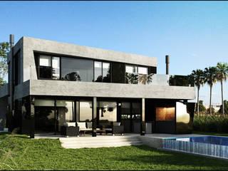 190: Casas de estilo  por Maximiliano Lago Arquitectura - Estudio Azteca,