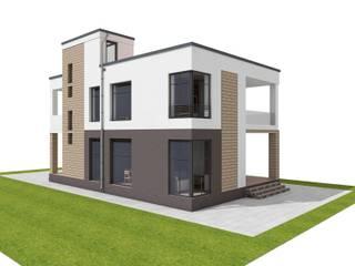 Проект частного дома Дома в стиле минимализм от MollyArt Минимализм