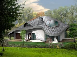 Rezydencja FLORO Eklektyczne domy od Architekt Villanette Eklektyczny