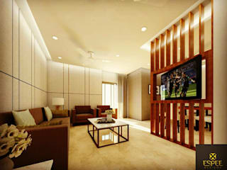 2 bhk Modern living room by Espee Designs Modern
