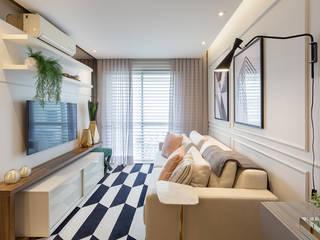 Apartamento Jovem Casal Salas de estar modernas por Juliana Agner Arquitetura e Interiores Moderno