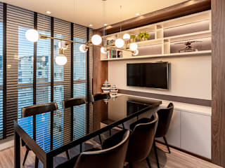 Modern Study Room and Home Office by Juliana Agner Arquitetura e Interiores Modern