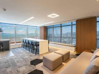 Projeto Corporativo Escritórios modernos por Juliana Agner Arquitetura e Interiores Moderno