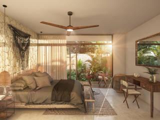 Rustikale Schlafzimmer von Obed Clemente Arquitectura Rustikal