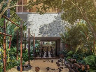 Tropischer Fitnessraum von Obed Clemente Arquitectura Tropisch