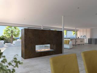 Ruang Makan Gaya Mediteran Oleh Taqnia arquitectos Mediteran