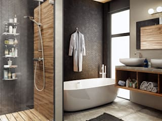 Rustic style bathroom by IdeaBang Rustic