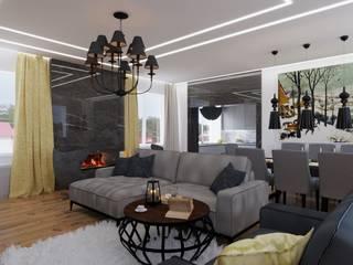 Living room by GruzdArt, Modern