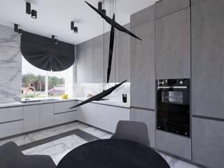 Интерьер с фреской Брейгеля.: Встроенные кухни в . Автор – GruzdArt, Модерн