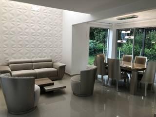VIVIENDA MULTIFAMILIAR : Salas de estilo  por SEQUOIA. Projects & Designs,
