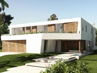 Casa Diagono: Casas de estilo  por Maximiliano Lago Arquitectura - Estudio Azteca,