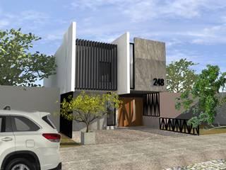 PROYECTO VIVIENDA RESIDENCIAL MEDIO: Casas de estilo  por ARQ.MIRYAM DE J. RIOS TINOCO,