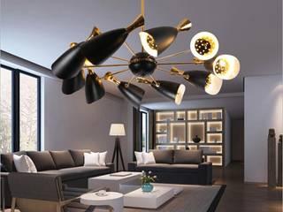 ILUMINACIÓN MAYA -LED Ruang Keluarga Minimalis Aluminium/Seng White