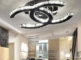 ILUMINACIÓN MAYA -LED Ruang Keluarga Minimalis Aluminium/Seng Metallic/Silver